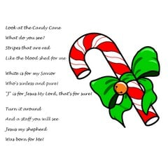 Candy Cane Poem about Jesus (Printable Handout)