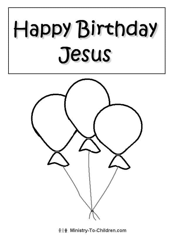 happy birthday jesus coloring page for christmas