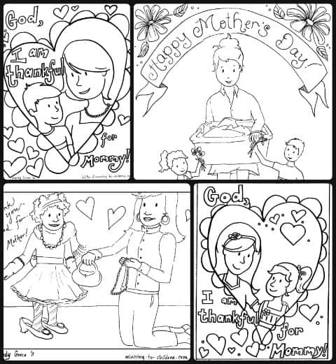 Coloring Sheets for mother's day