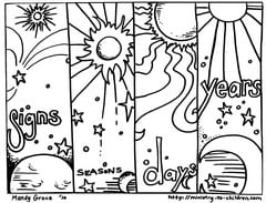 days of creation coloring pages days of creation