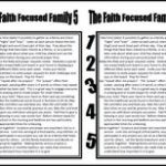 Church Bulletin Insert: The Faith Focused Family