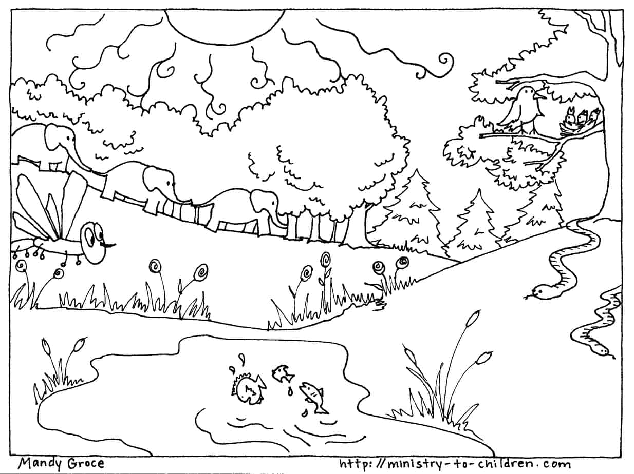 Creation Coloring Pages God Made
