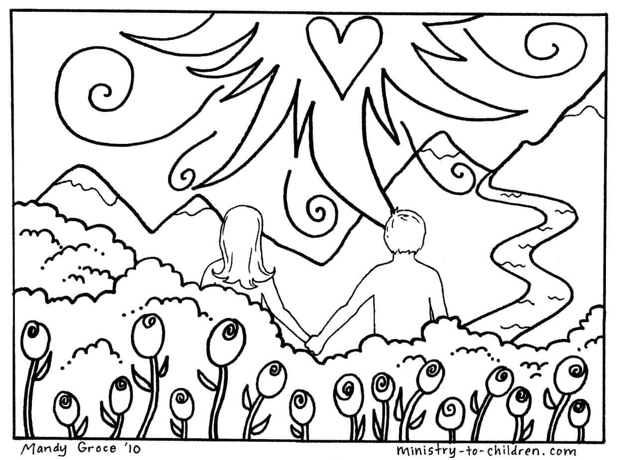 Coloring Pages Adam And Eve Coloring Pages For Kids adam and eve coloring pages free printable jpeg image file 476k
