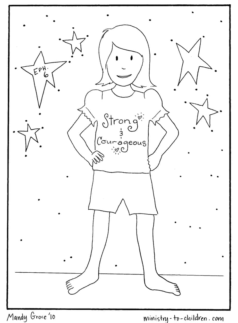 armor of god coloring pages - A Child God Coloring Page