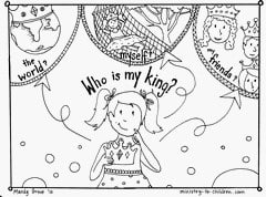 Gospel Coloring Book - Who is my king?