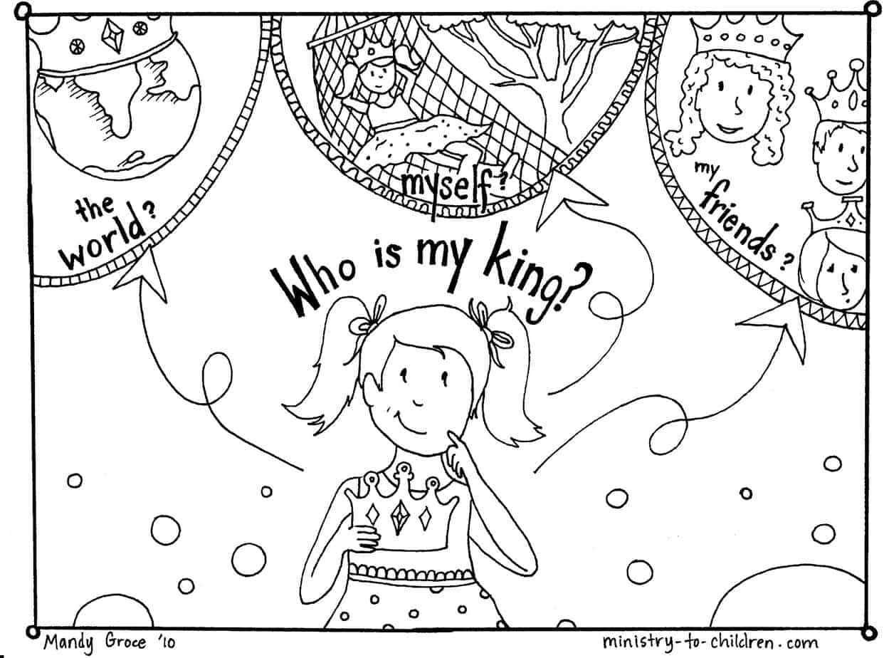 Adult Top Gospel Light Coloring Pages Images top gospel coloring pages who is my king image file images