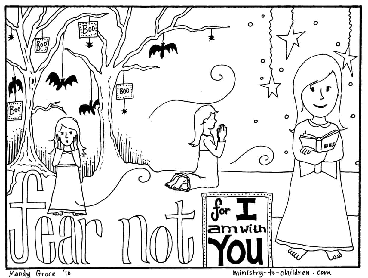 Childrens church colouring pages -  Girl Jpeg