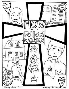 gospel coloring book - Books Bible Coloring Pages