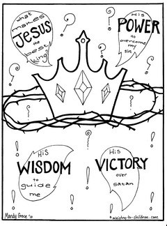 Gospel Coloring Pages What Makes Jesus the Best King