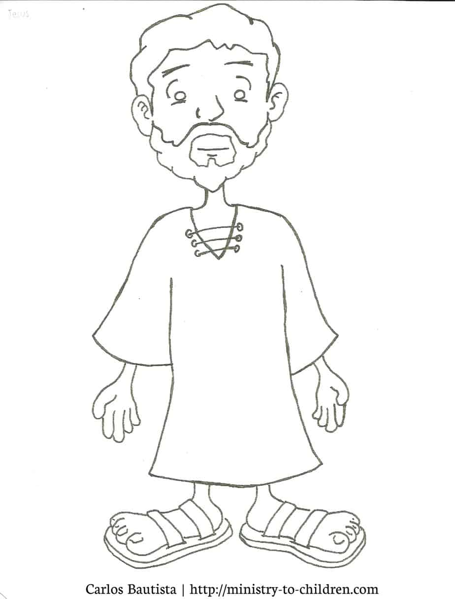 Free coloring pages jesus and nicodemus