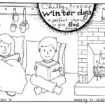 "Free Winter Coloring Page ""Give God Praise"""