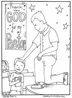 coloring page for pastor appreciation Sunday