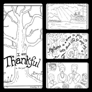 Free Thanksgiving coloring sheets for children