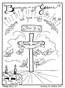 Christmas Coloring Sheets: Jesus is the Way