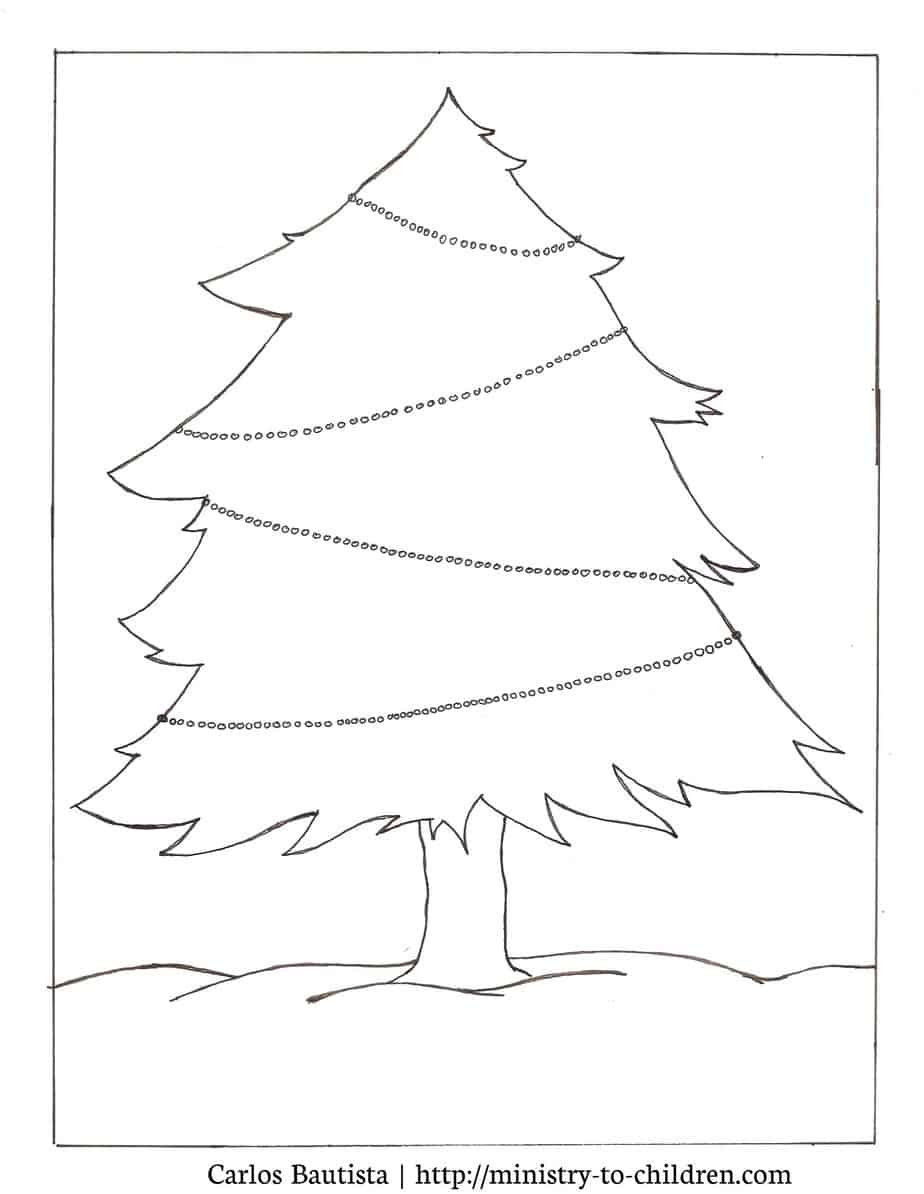 Christmas Tree Coloring Picture Activity Free Printables
