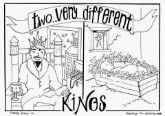 King Herod and King Jesus Coloring Page