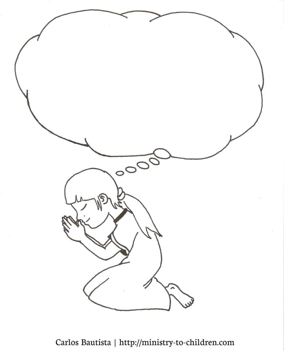 Clip Art Children Praying Coloring Page prayer coloring pages for kids free printable pictures and here anyone who wants to do advanced editing boy praying page