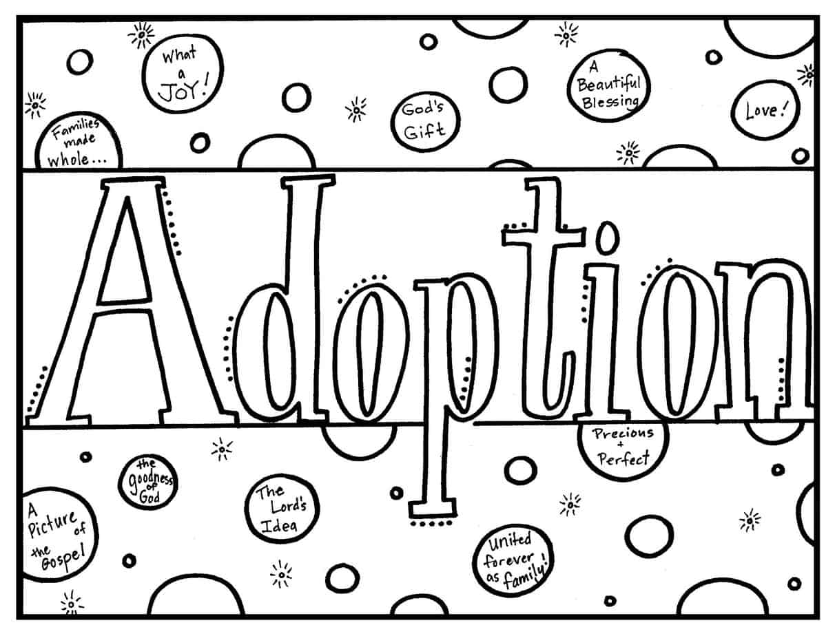 Coloring Book for Explaining Adoption to Children