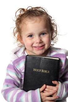 girl with Bible