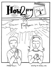 "Page features ""Our Father in Heaven"""