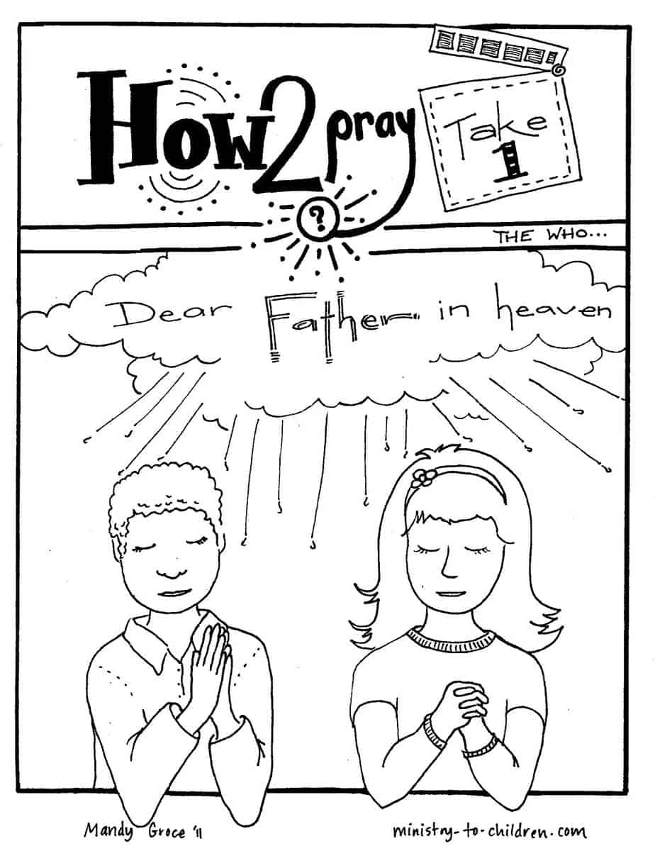 Free coloring pages bible - The Lord S Prayer Coloring Book