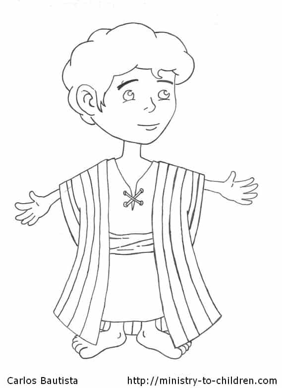 Joseph and the Beautiful Coat Coloring Page