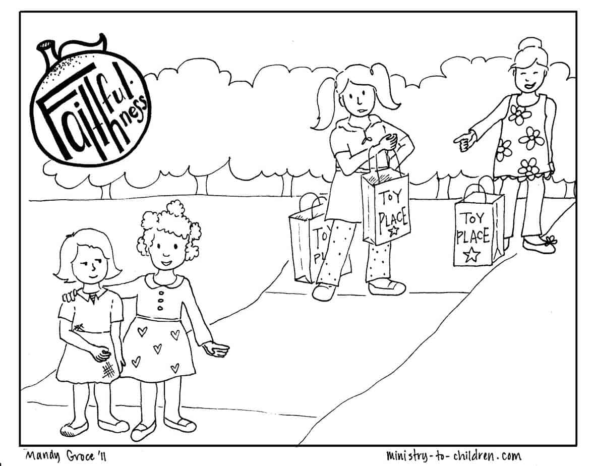directions click on the preview picture above to download the full size coloring page as a print friendly pdf file - Fruit Spirit Coloring Page