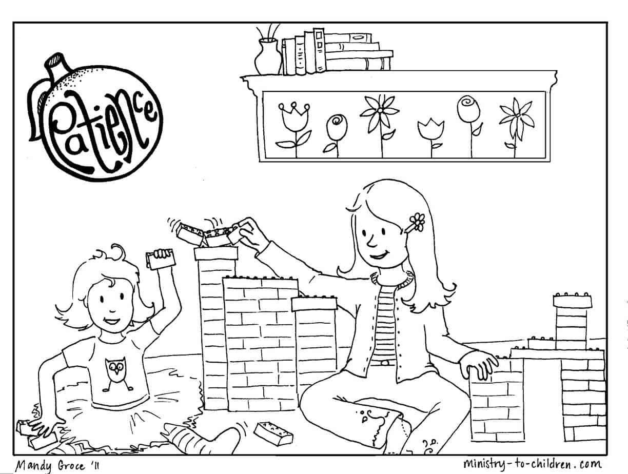 Coloring pages for fruit of the spirit -  Image