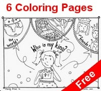 who is my king coloring book
