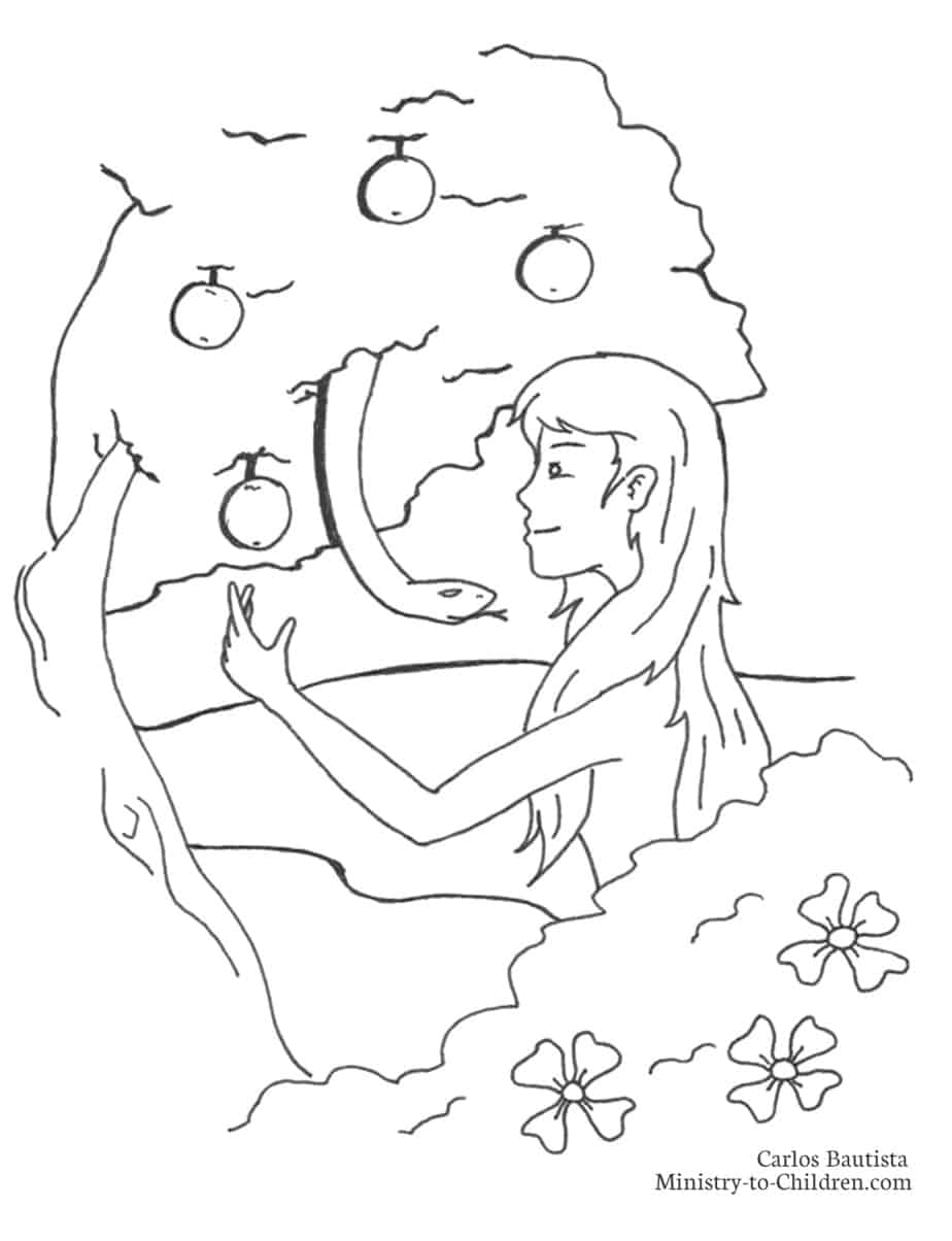 resolution jpeg image - Adam Eve Bible Coloring Pages