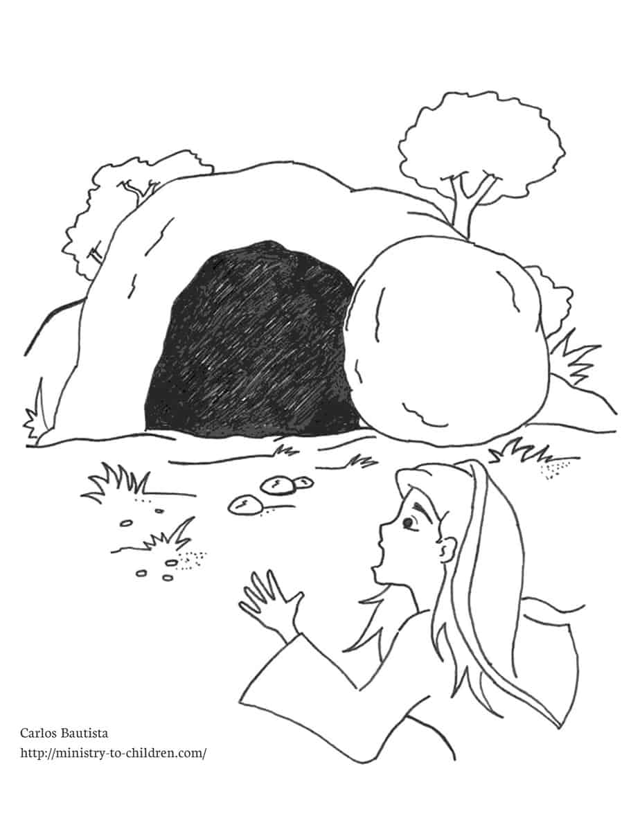 Free coloring pages empty tomb -