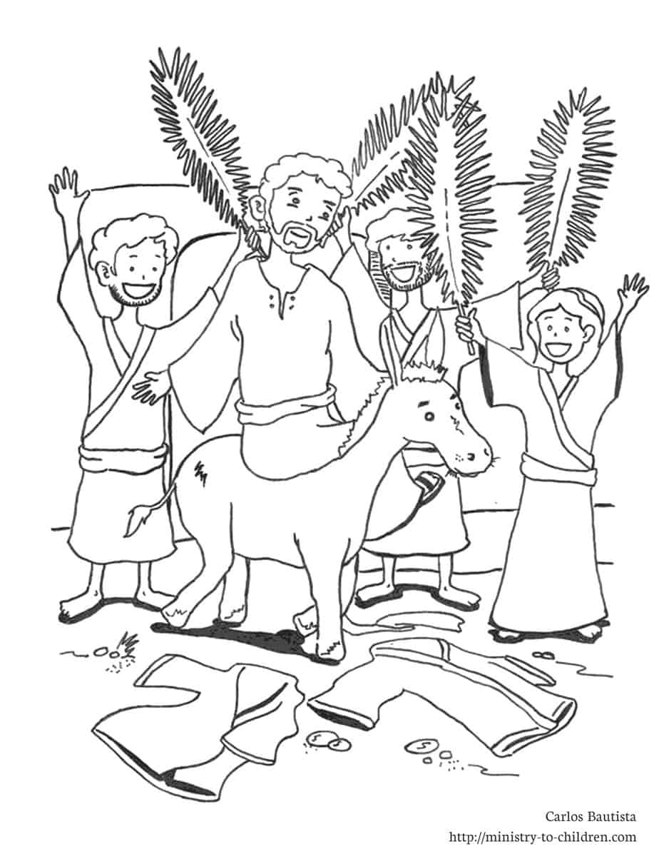 ... Palm Sunday coloring page. You can also download this picture as a