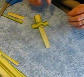 palm sunday cross craft