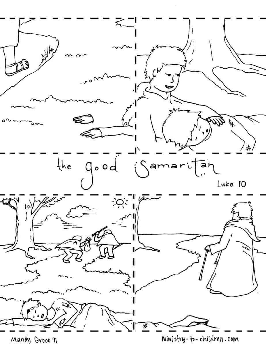 The Good Samaritan Coloring Pages