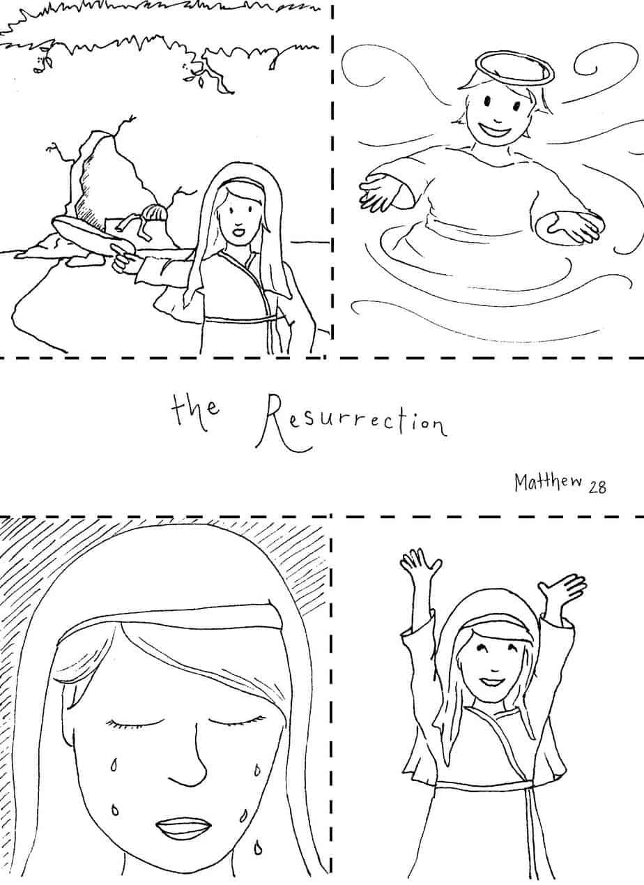 Free coloring pages resurrection of jesus