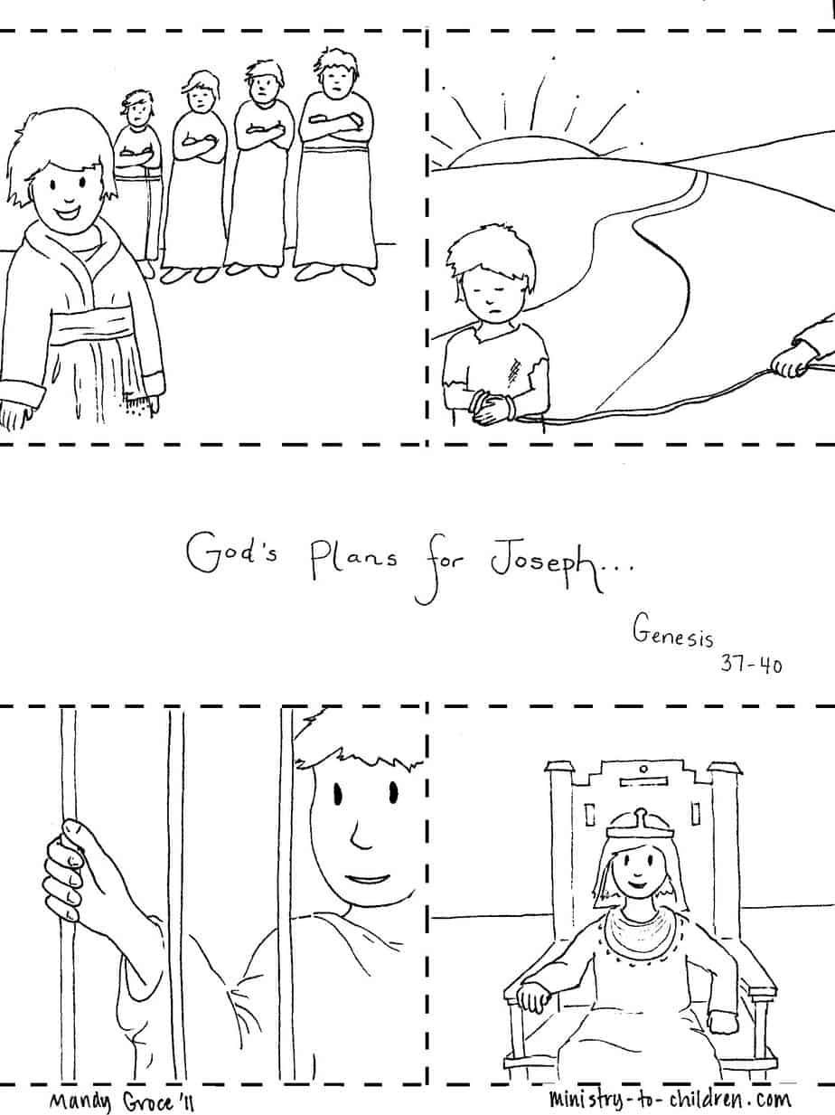 first bible story coloring pages joseph