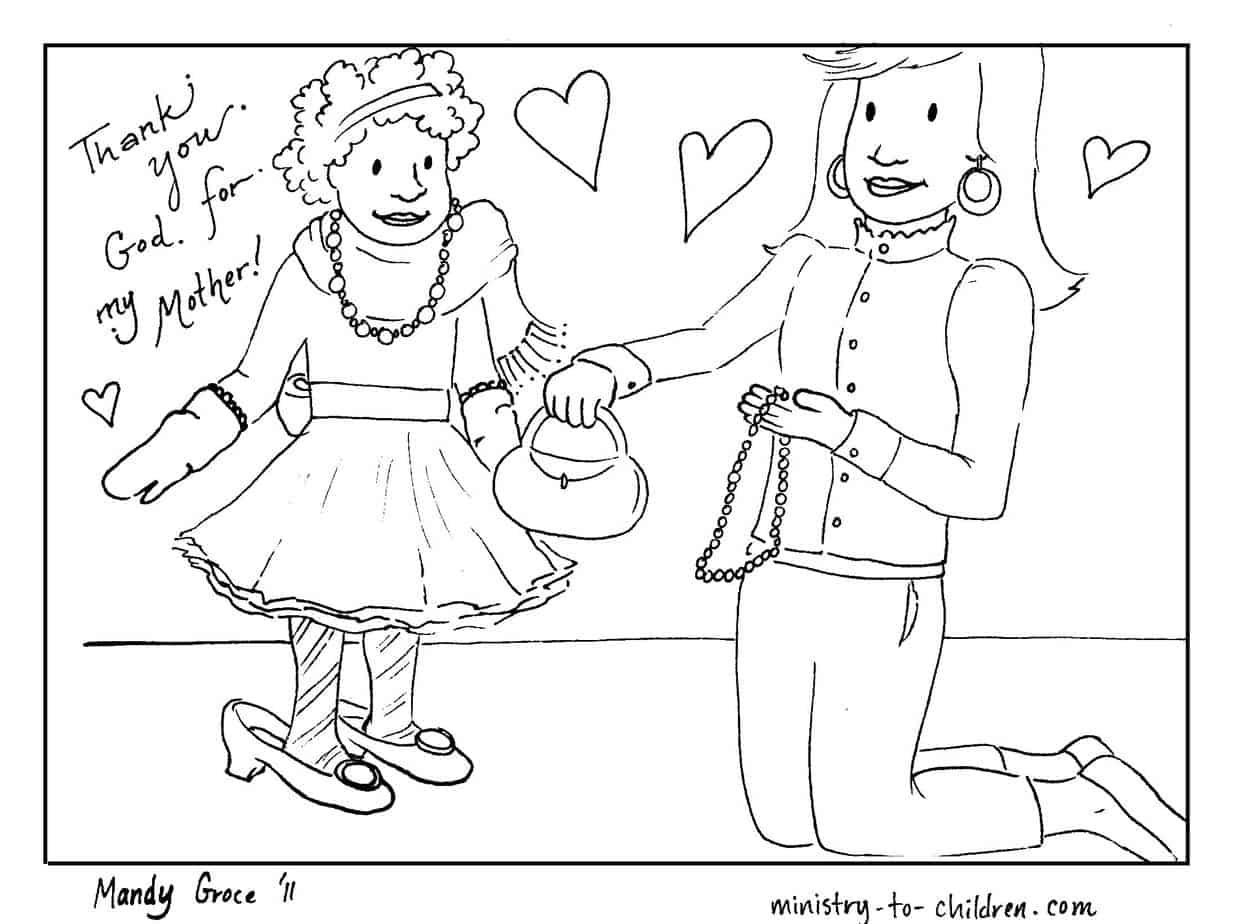 Mothers day coloring sheets for sunday school - Directions To Download This Coloring Sheet Simply Click On The Image Above To Download The Picture As A Printable Pdf File We Ve Also Uploaded A Higher