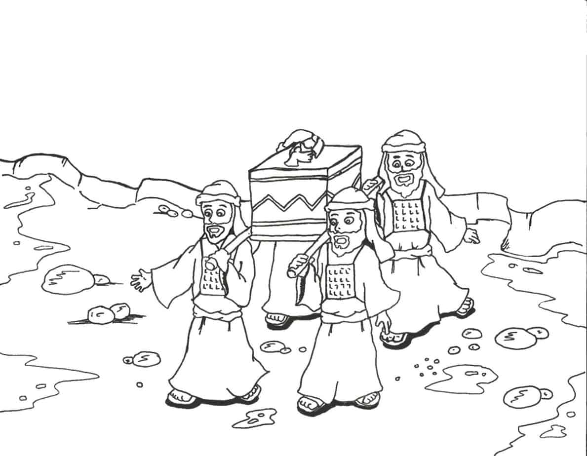 Coloring pages moses parts the red sea -  Image This Coloring Sheet