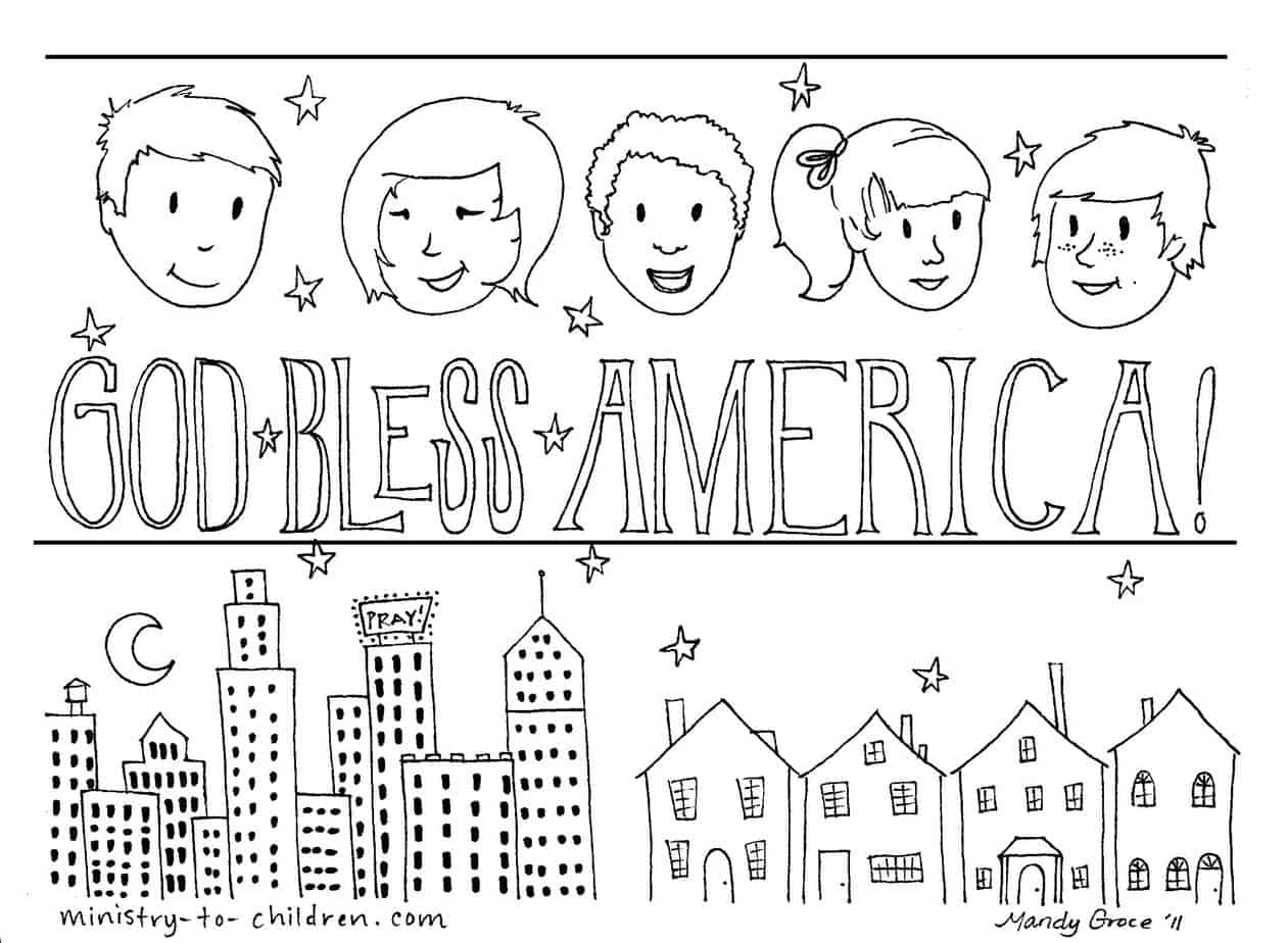 Coloring Pages America Coloring Page god bless america coloring page print friendly pdf higher resolution jpeg