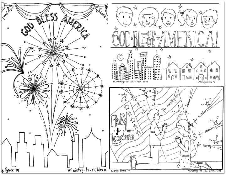 patriotic coloring book for the 4th of july