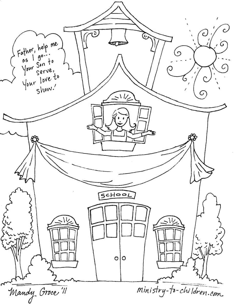 Coloring pages for back to school - Coloring Pages For Back To School 10
