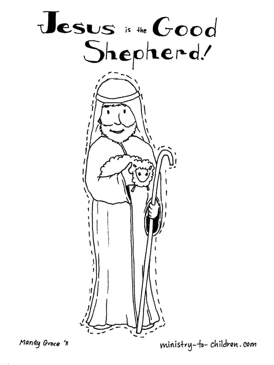 Coloring Pages Jesus The Good Shepherd Coloring Pages jesus is the good shepherd coloring page inspiration