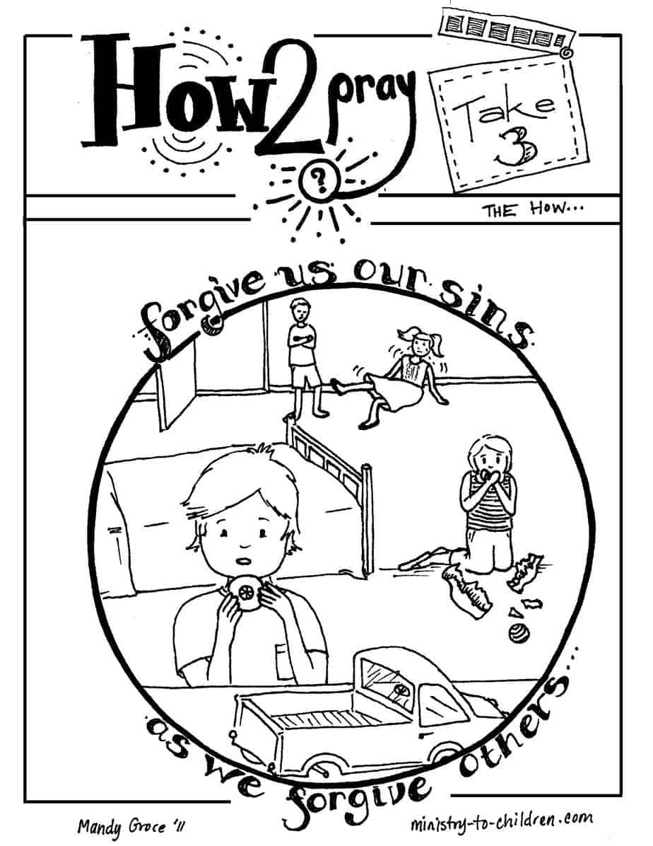 Free coloring pages on forgiveness -  Jpeg