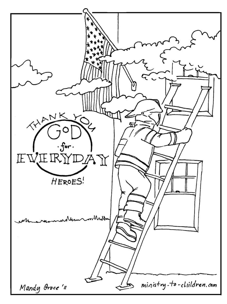 firefighter coloring page pdf easy to print jpeg - Fireman Coloring Pages