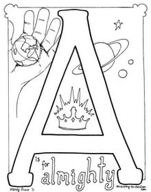 Bible Alphabet Coloring Book