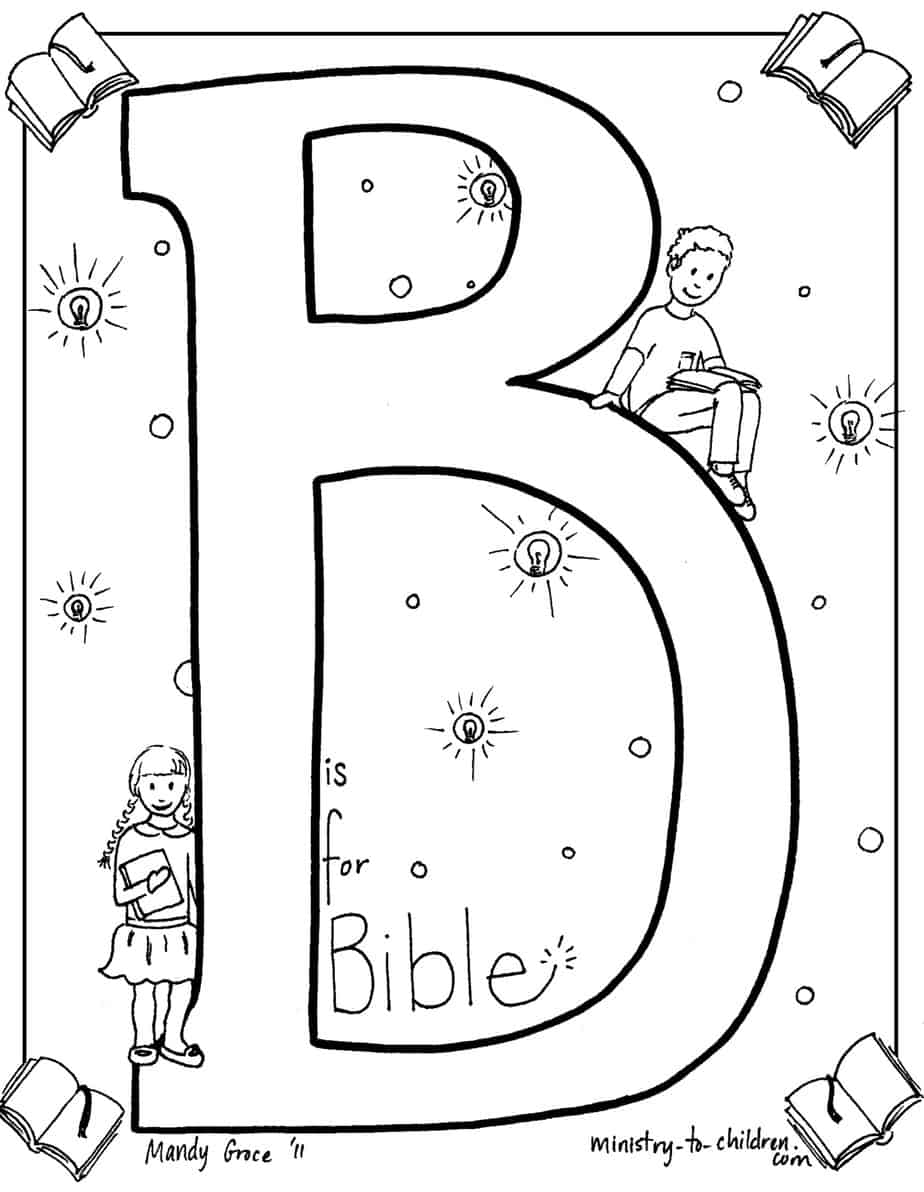 b is for bible coloring page - Books Bible Coloring Pages