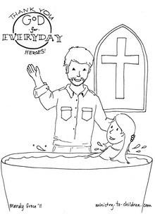 Pastor coloring paeg