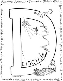 D is for Disciple Coloring Page Preview