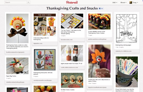 Thanksgiving craft ideas on Pinterest