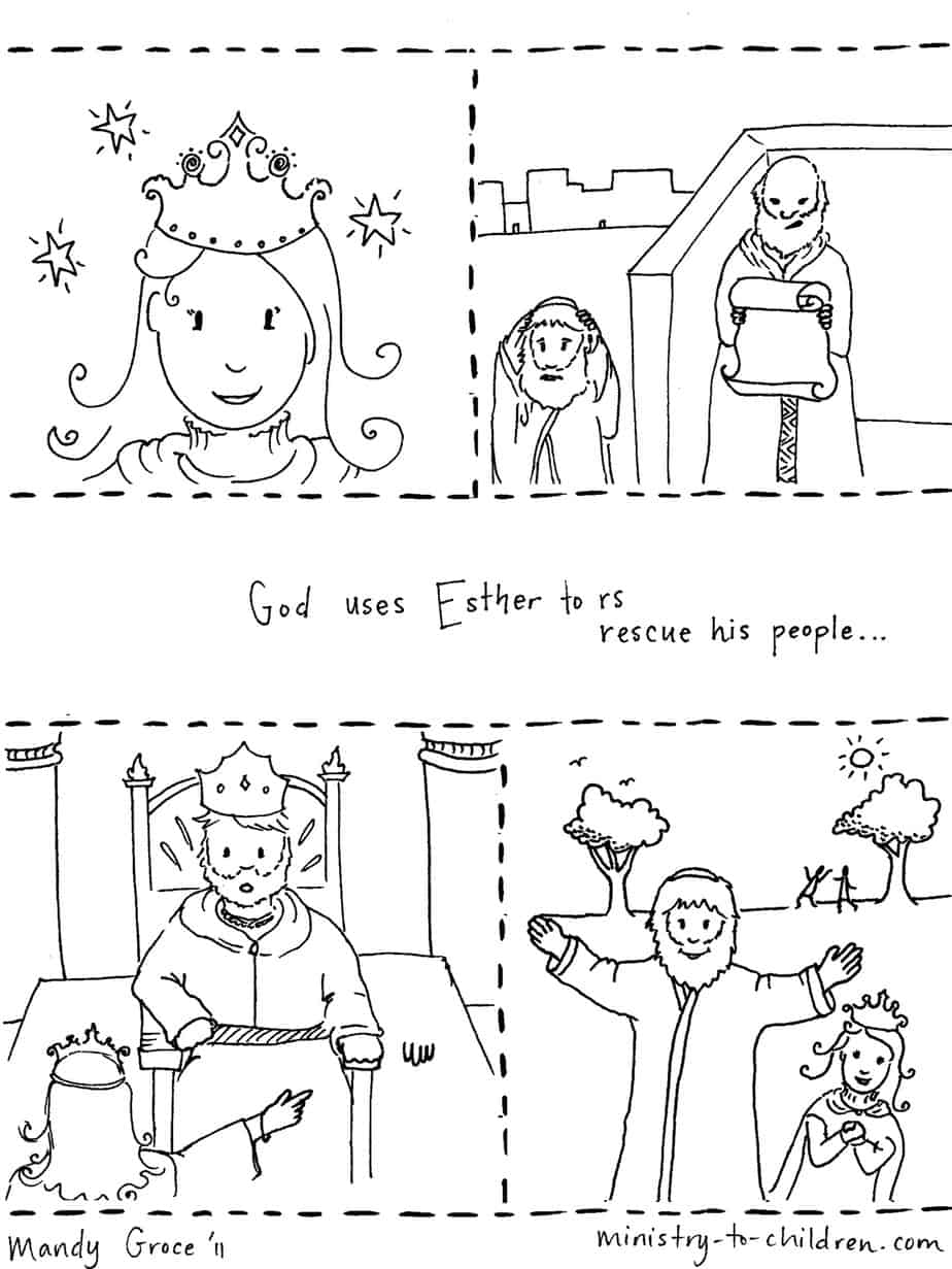 Coloring Pages Coloring Pages Bible Stories story of esther coloring page pdf jpeg 1st